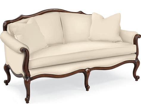 chair settee devereux settee with double welt trim living room