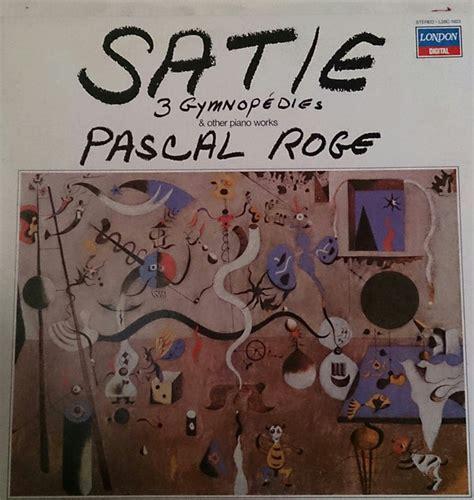 Erik Satie Piano Works Vinyl - erik satie pascal rog 233 3 gymnop 233 dies other piano