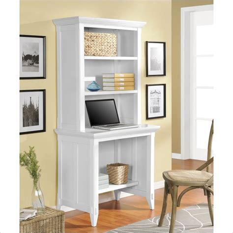 Desk With Hutch White Altra Furniture Amelia Desk With Hutch In White 9362196