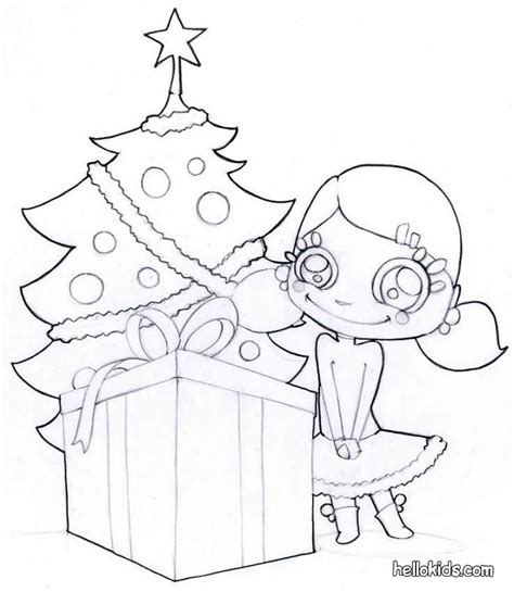Christmas Tree With Presents Coloring Page Az Coloring Pages Tree With Gifts Coloring Pages