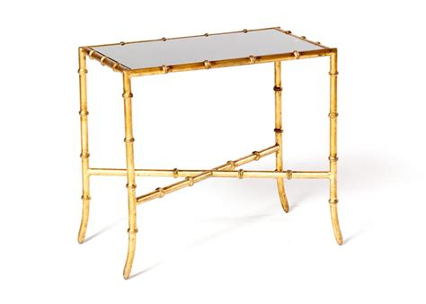 antique gold bamboo float accent table bamboo end table eventhaus rentals