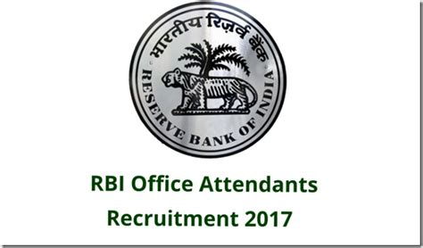 Rbi Recruitment For Mba 2017 by Rbi Office Attendants Recruitment 2017 Ibpsexamguru