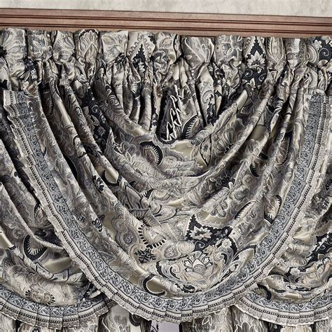 Grey Waterfall Valance Guiliana Medallion Comforter Bedding By J New York