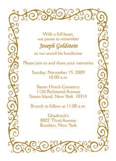 free tombstone unveiling invitation cards templates search my wedding