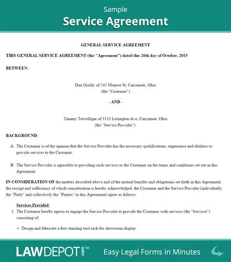 service agreement create   print lawdepot
