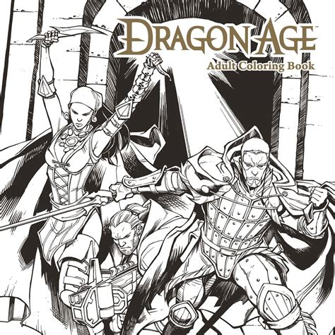 dragon age coloring page oct160028 dragon age adult coloring book tp previews world