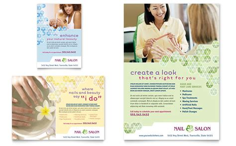 nail salon flyer ad template word publisher