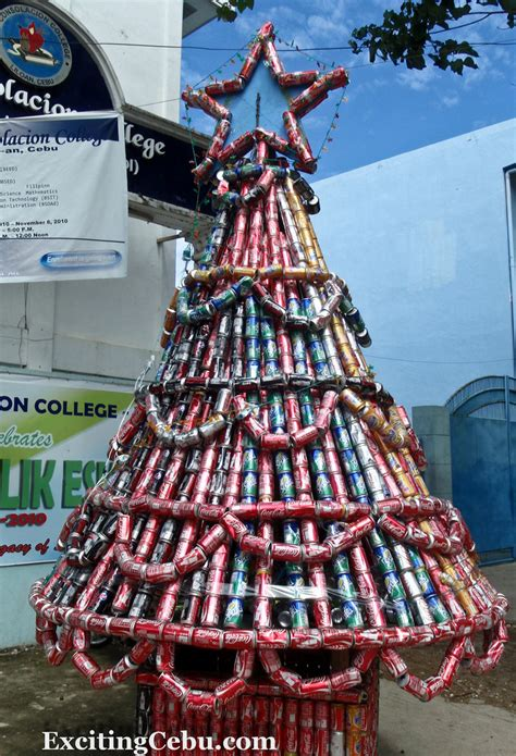 christmas tree made of coke cans this christmas tree is