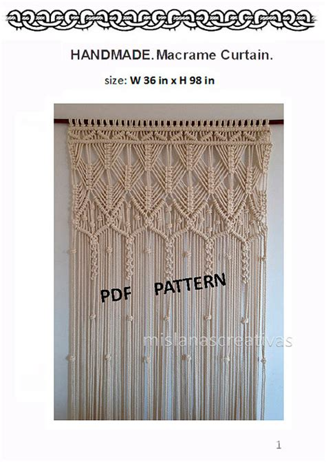 Free Macrame Patterns Pdf - pdf macrame curtain handmade macrame wall