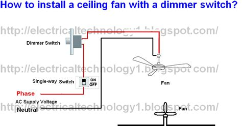 how to install a ceiling fan switch electrical technology how to install a ceiling fan with a