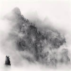 Huangshan mountains study 1 anhui china 2008 1170x1160 black and white