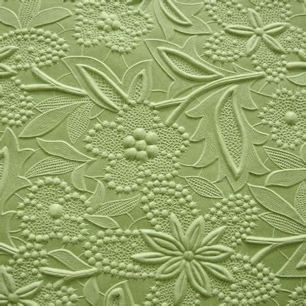 Yolanda Emboss Green New floral embossed paper 22x30 leaf green paper