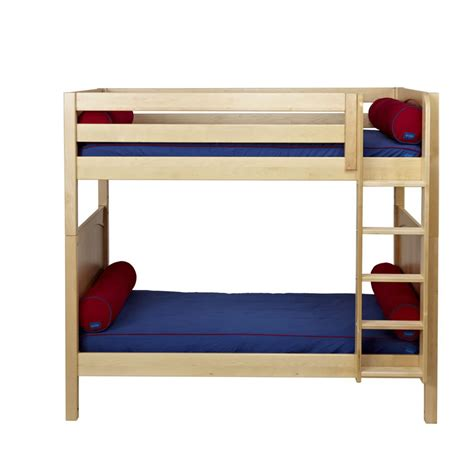 tall loft bed tall bunk bed in natural with panel bed ends by maxtrix