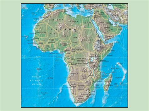 africa map of physical features best photos of map of africa physical either physical