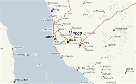 mecca map mecca location guide