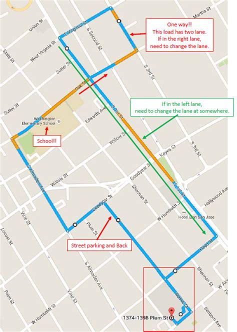 san jose dmv directions サンノゼ サンタクララdmvの運転実技試験コースと合格方法