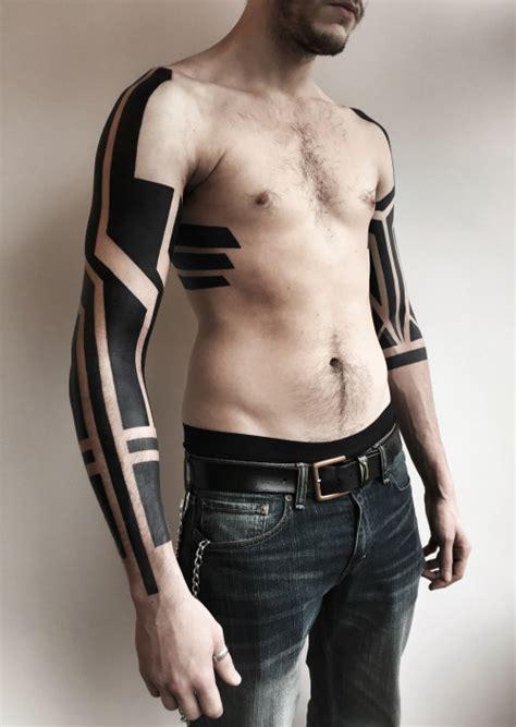 extreme detail tattoo tribal sleeve tattoos