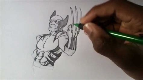 Drawing X by Drawing Wolverine From Evolution