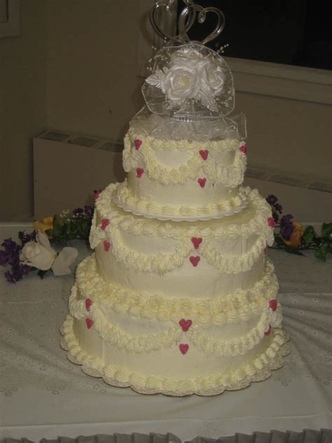 3 tier wedding cake simple hearts 3 tier wedding cake cakecentral