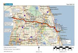 map of ta florida and surrounding area cycling routes crossing florida