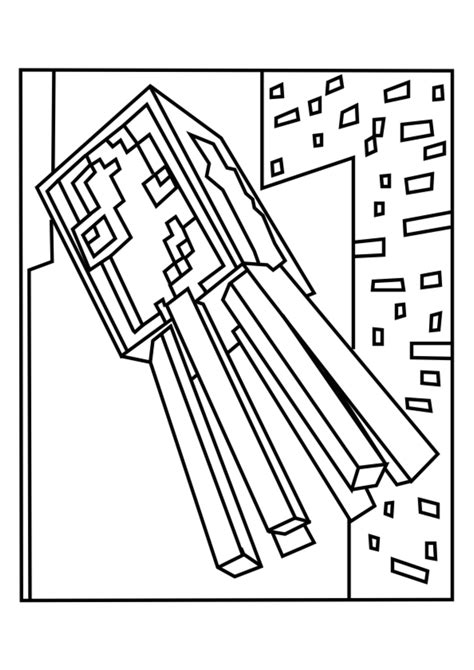 Minecraft Spider Coloring Pages Glum Me Minecraft Spider Coloring Pages