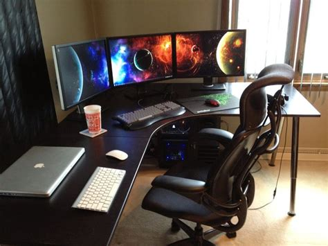gaming office setup 17 best ideas about computer gaming room on pinterest