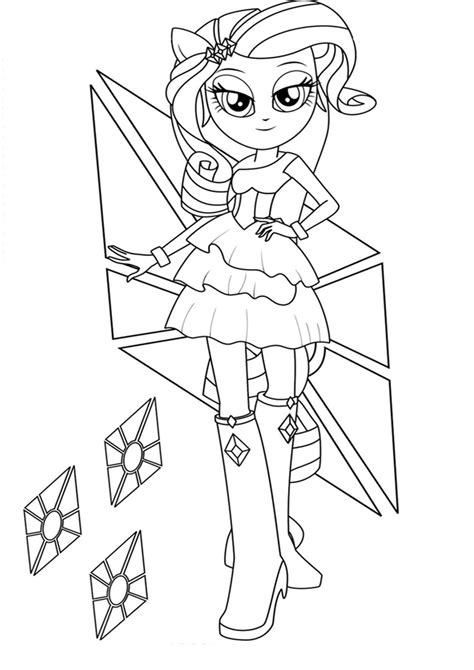Free Equestria Rarity Coloring Pages Rarity Equestria Coloring Page Free