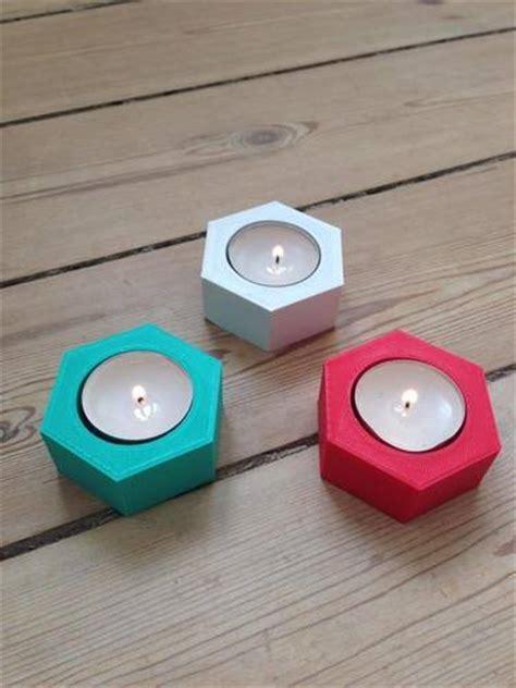 Hexagonal Candle Holder Print 3d Cetak 3d Pla Abs 3d printed hexagonal candle holder by danekshea pinshape