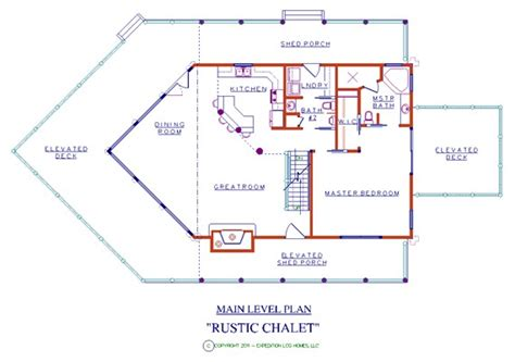 chalet style floor plans rustic chalet log floor plan log cabin 3440 sq ft expedition log homes llc
