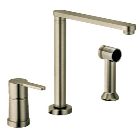 tall kitchen faucet with spray fortis 9259000bn brushed nickel adjustable spout height