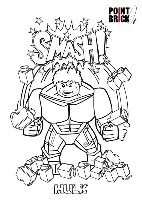 coloring pages of lego hulk disegni da colorare lego marvel super heroes the hulk