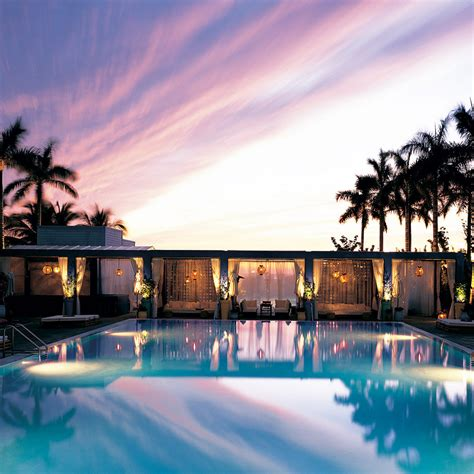 best hotels miami miami s best hotel pools travel leisure