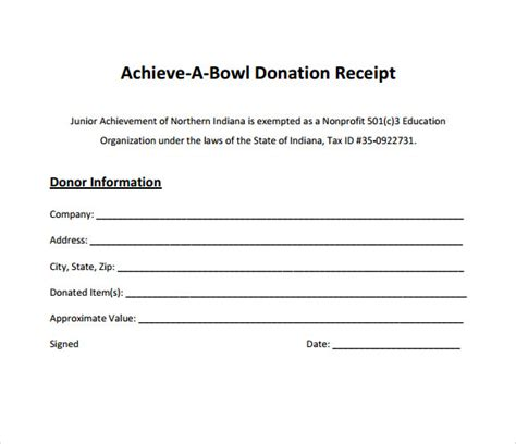 donation receipt template 10 donation receipt templates free sles exles