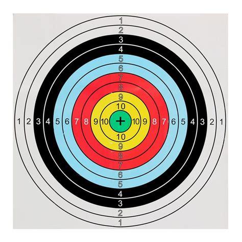 printable targets for crossbows 40x40cm bow arrow shooting archery target paper bullseye