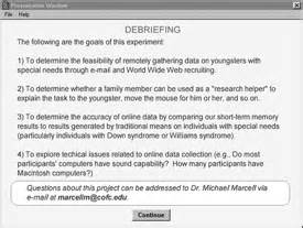 Debriefing Form Template Psychology by Data Collection With Special Populations The