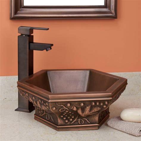 copper vessel sinks ebay signature hardware vineyard hexagon double wall copper