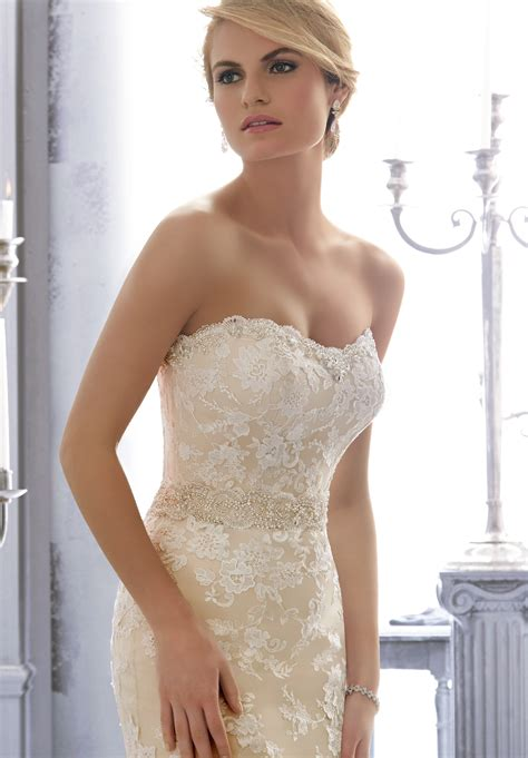 mori lee  wedding dress sash madamebridalcom