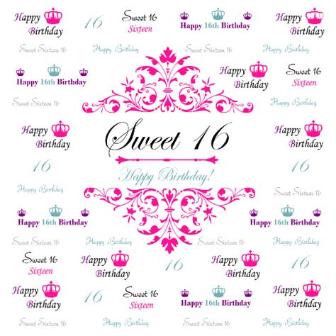 Sweet 16 Banner Template by Bingbanners
