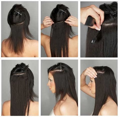 how to put in hair extensions how to apply clip in hair extensions