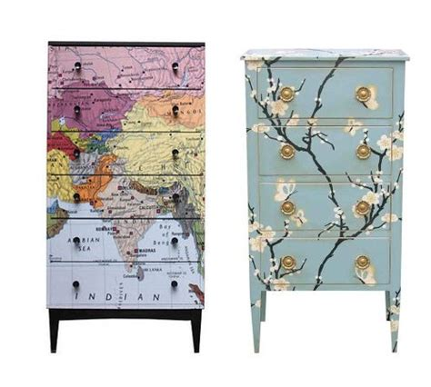 Decoupage Map - diy crafts projects ideas up cycle ideas furniture