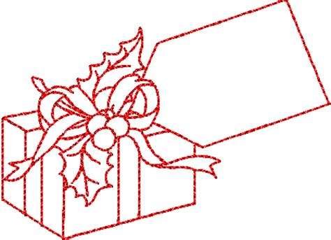 gift box clip art black and