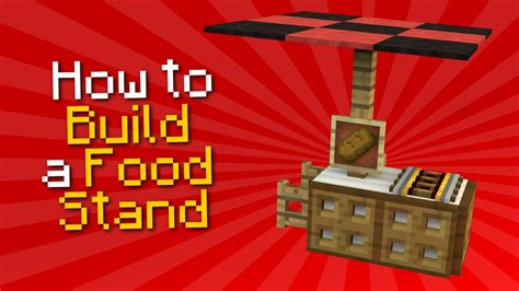 how to a to stand minecraft how to build a food stand tutorial
