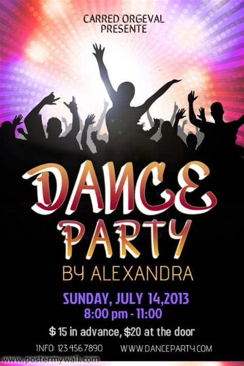 dance party poster template postermywall