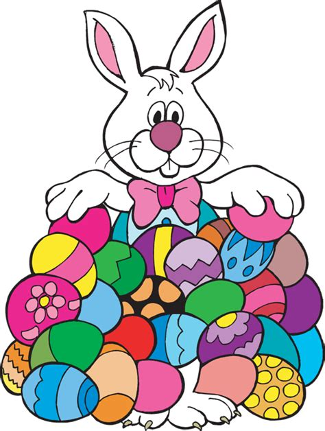 easter clipart easter bunny with eggs clipart clipart panda free