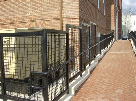Steel Banister Rails Hercules Fence Maryland Wire Mesh Paneling Railing
