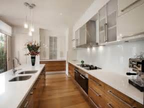 Galley Kitchen Ideas Pictures Classic Galley Kitchen Design Using Floorboards Kitchen