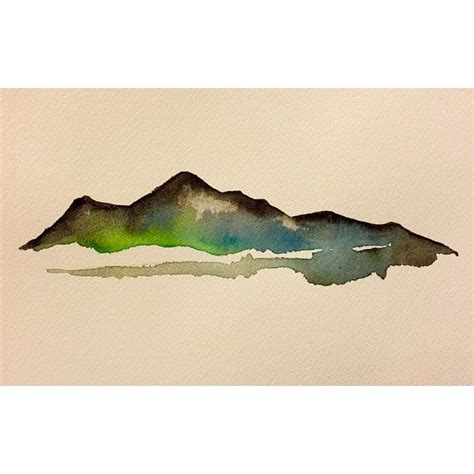 watercolor mountain tattoo watercolor mountain i d to this in the near