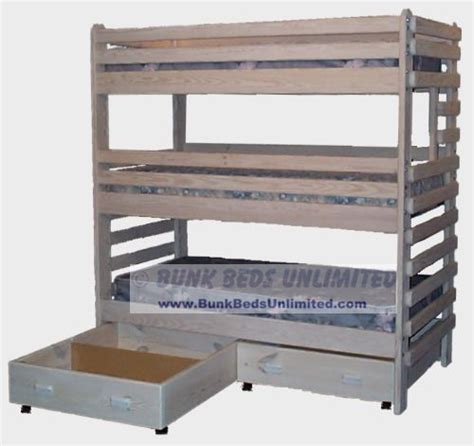 triple bunk bed plans free triple bunk beds bed plans and drawers on pinterest