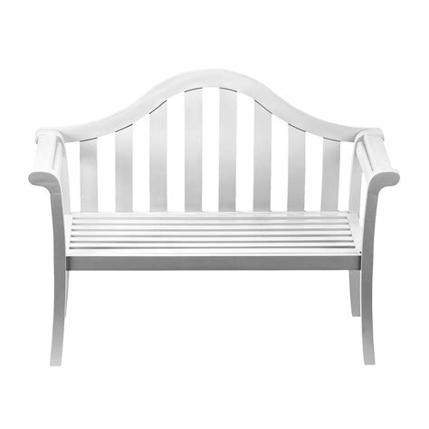white bench shop achla designs camelback 22 in w x 53 in l white