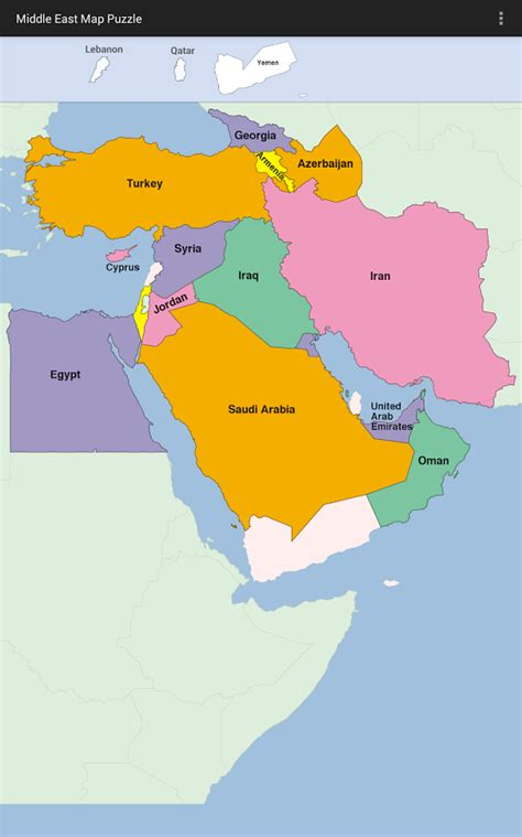 middle east map review middle east map puzzle android apps on play